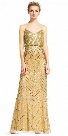 Adrianna Papell Sequin Embellished Blouson Evening Dress at eDressMe #affiliatelink