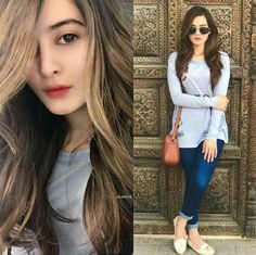 Her beauty is that million diomands glittering in the sun   each reflecting is a own ray of light making brilliant patters ✨  She looks simply stunning  Her outside beauty is simply the reflection from her warm heart ✨ Her new hair color is on point, loving it ❤ #AimanKhan #LoveHer #PakistaniActresses ✨