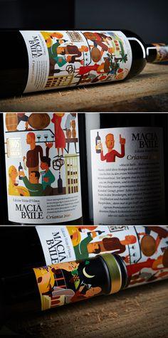 Macia Batle  _ Packaging design by Ruska Martín Associates. See more at ruskamartin.de #wine #winelabel #packaging