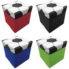 Football storage boxes for Boys Rooms