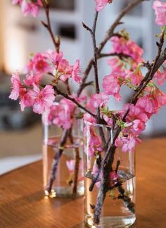 Flor de Cerejeira na decoração.