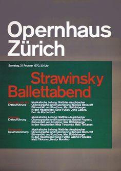 Müller-Brockmann & Co. _ Strawinsky Ballettabend (1970)