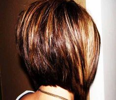 Women and girls with blonde can also try the stacked short bob hairstyle with the front short bangs to look trendy and beautiful.