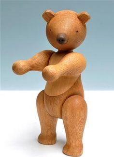 Kay Bojesen. Large teddy bear/bear, oak