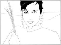 Patrick Nagel - Famous Last Words Nagel Art, Patrick Nagel, Pop Culture Art, Air Brush Painting, Illustrations And Posters, Erotic Art, American Artists, Line Drawing, Colouring Sheets