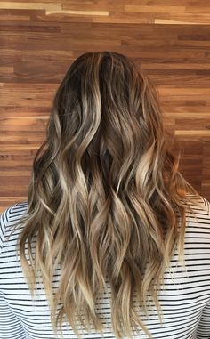 Natural warm brunette Balayage hair color