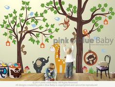 Anyone looking to decorate a nursery, play room or kids room...you must check out this Etsy site! Great wall decals!