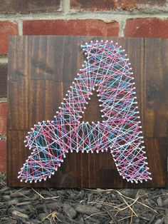 String Art Name, Word, Nail and String Art, Wall Decor, Nursery Decor