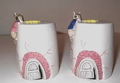 Vintage Rare Ceramic Salt and Pepper Shaker Set Climbing Mice and Cheese Shakers Mills Mice and Cheese Salt and Pepper Shakers http://www.amazon.com/dp/B00VB5QE5I/ref=cm_sw_r_pi_dp_g9Gfvb1RYBPCW