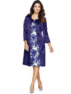 Coat and Dress Suit, Navy Mother of the Bride outfit