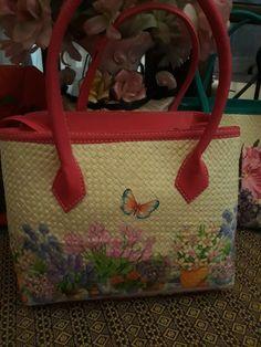 Handbag pandan decoupage by Emirashop-Bdg,Bandung,Indonesia