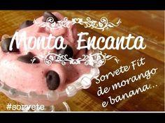 Como fazer sorvete de frutas congeladas - morango e banana