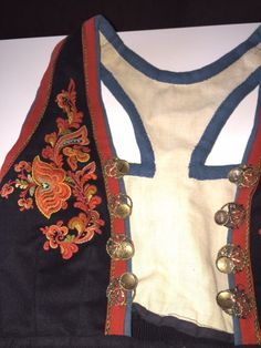 Norwegian Clothing, Vest, Embroidery, Europe, Clothes, Hipster Stuff, Outfits, Needlepoint, Clothing