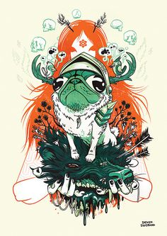 Pug of War   Illustrator: Steven Silverwood - http://stevensilverwood.prosite.com