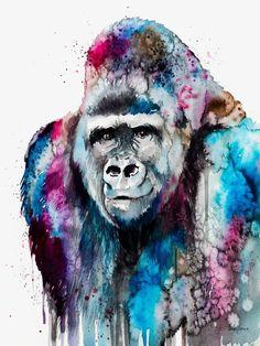 Acuarela gorila, Gorila, Gorila Illustrator, Pintado A Mano De Gorila Imagen PNG
