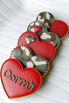 Valentine Camo Cookies from http://www.serendipitoussweets.com/
