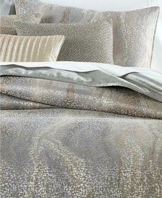 Hotel Collection Terra KING Comforter Gray #HotelCollection #Contemporary Down Comforter, King Comforter, Queen Duvet, Comforter Sets, Grey And Gold Bedroom, Gray Home Offices, Bedroom Sets, Bedrooms, Master Bedroom