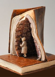 Book Art Photography by Thomas Allen Art Altéré, Old Book Crafts, Altered Book Art, Sculptures Céramiques, Book Projects, Project Ideas, Clay Projects, Craft Ideas, Book Folding