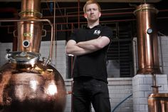 David Wilkinson at Edinburgh Gin's new distillery at The Biscuit Factory. Picture: Dominic Cocozza