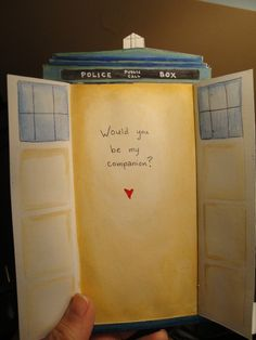 Doctor Who valentine. ♥ I would much rather the Doctor ask me to be his companion than someone ask me to be their valentine. :)