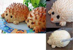 Uz pomoć makaza za čas možete napraviti ježića od domaće pogače ili hlebčica.