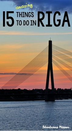 Want to know all the fun and top things to do in Riga, Latvia? Get the 15 must-do activities right here.  #latvia #riga
