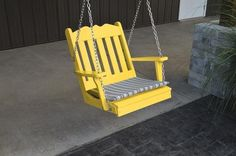 A&L Furniture Royal English Garden Poly/Recycled Plastic Chair Swing 932 - Magnolia Porch Swings  - 9