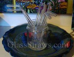 Glassstraws.com Glass Drinking Straws Pyrex lifetime warranty, Recommended by my dentist for coffee and tea drinking so I keep my white teeth :)