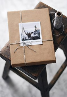 Festive wrapping inspiration with photo from Inkifi