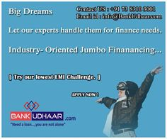 Get Loan In Hand In No Time... Easy And Convenient For You...  BankUdhaar.com Suit Your Instant Needs, Settle Your Unavoidable Money Requirements...  >> Just Ring On +91 73 8310 3001 >> Email : info@BankUdhaar.com