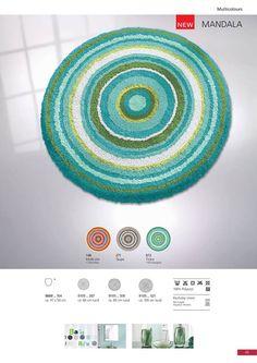 Stylish vibrant multi color round rugs available in saffron orange multi-color. Round Rugs, Bath Rugs, Taupe, Mandala, Vibrant, Orange, Stylish, Color, Home Decor