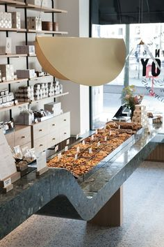 Founded in Maison Dandoy is a family-owned artisanal bakery based in Brussels. Bakery Interior, Retail Interior, Boutique Patisserie, Joinery Details, Interior Architecture, Interior Design, Industrial Cafe, Counter Design, Restaurants