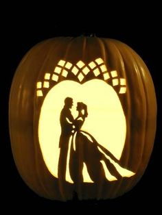 just gorgeous! This would be a neat decor piece at the wedding in the barn, carved in a white pumpkin!