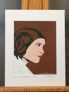 """This is a LIMITED EDITION HAND SIGNED Matted Print of my Star Wars painting, """"Leia In A Galaxy Far, Far Away"""".     Only 333 prints exist. Each print is hand signed and numbered by the artist.    Mat measures 11""""x14"""". Print measures 8""""x10"""". Mounted on 3/16"""" foam core board.    Matted Print is ready to pop right into an 11""""x14"""" frame!"""
