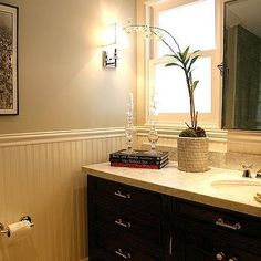 Beadboard Bathroom, Contemporary, bathroom, Jeff Lewis Design