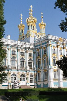 Catherine Palace, St. Petersburg, Russia. Okay, Catherine may have been clinically insane, but her palace is insanely gorgeous. I want to see it. *