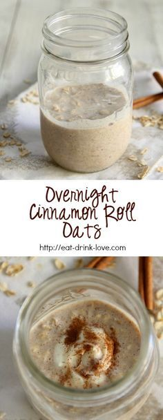 Overnight Cinnamon Roll Oats cup rolled oats cup skim milk (swap almond milk) cup plain or vanilla Greek yogurt (swap dairy free yogurt) tsp. cinnamon pinch of salt 2 teaspoons light brown sugar 1 teaspoon vanilla Breakfast And Brunch, Breakfast Dishes, Breakfast Recipes, Breakfast Bake, Breakfast Smoothies, Paleo Breakfast, Overnight Oatmeal, Overnight Oats Yogurt, Rolled Oats Recipe Overnight
