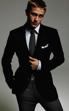 Charlie Hunnam is Christian Grey... Well, he\'s no Henry Cavill (which is who I pictured while reading the book), but after seeing this photo, I think Charlie can fill the role of Mr. Grey. He cleans up nice. :)