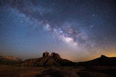 Picture of the Milky Way over Cathedral Rocks in Sedona, Arizona
