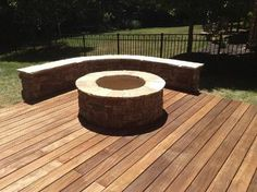 Fire Pits On Decks Safety | deck includes a hardscape custom fire pit an seating wall - Decks ...