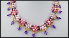 DIY | Blumen Perlen Halskette / Choker | Schmuck | Flower Pearl necklace...
