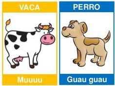 Spanish Lessons For Kids, Spanish Lesson Plans, Apraxia, Spanish Words, Spanish Language Learning, Borders For Paper, Animal Cards, Preschool Learning, Speech Therapy