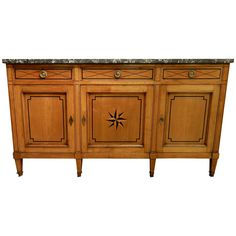 19th Century Directoire Style Enfilade   From a unique collection of antique and modern credenzas at https://www.1stdibs.com/furniture/storage-case-pieces/credenzas/