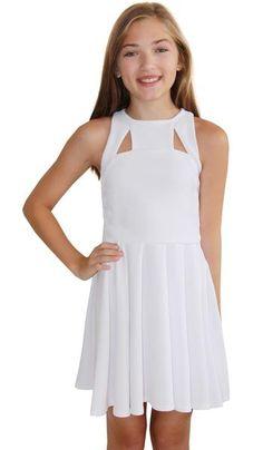 Miss Behave Nadya Print Skater Dress Big Girls