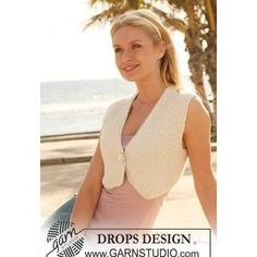 Bolero FREE Knitting Pattern in Moss St in DROPS