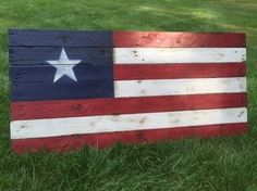 American Flag Reclaimed Wall Hanger 54 x 26 by CandBWoodShop