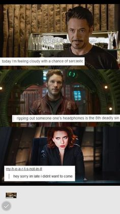 Love it. Avengers text posts (and star lord)