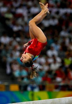 Shawn Johnson on beam! #shawnjohnson #gymnastics #olympics