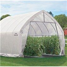The High Arch Greenhouse is designed to extend the growing season by insulating and protecting plants. The reinforced alpine style 1 in. steel frame provides a maximum of 12 feet of overhead growing height with 10 feet of growing height throughout the Greenhouse Growing, Small Greenhouse, Greenhouse Plans, Greenhouse Gardening, Greenhouse Fabrics, Aquaponics Diy, Aquaponics System, Hydroponics, Alpine Style