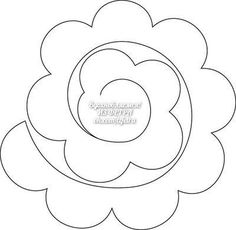 Paper Flower Art, Paper Flowers Craft, Large Paper Flowers, Flower Crafts, Diy Flowers, Fabric Flowers, Paper Crafts, Felt Flower Template, Felt Flower Tutorial
